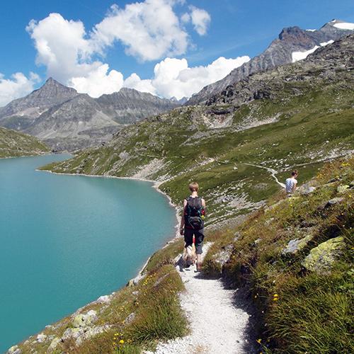 Mountain lake trails